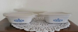 Two (2) Corning Ware ~ Blue Cornflower ~ Refrigerator Storage Dish ~ P-41-B~(33) - $32.00