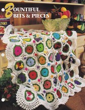 Bountiful Bits and Pieces, Annie's Crochet Quilt Afghan Pattern Leaflet ... - $2.95
