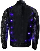 WWE Chris Jericho (Y2J) Light Up Black Studded Leather Jacket image 3