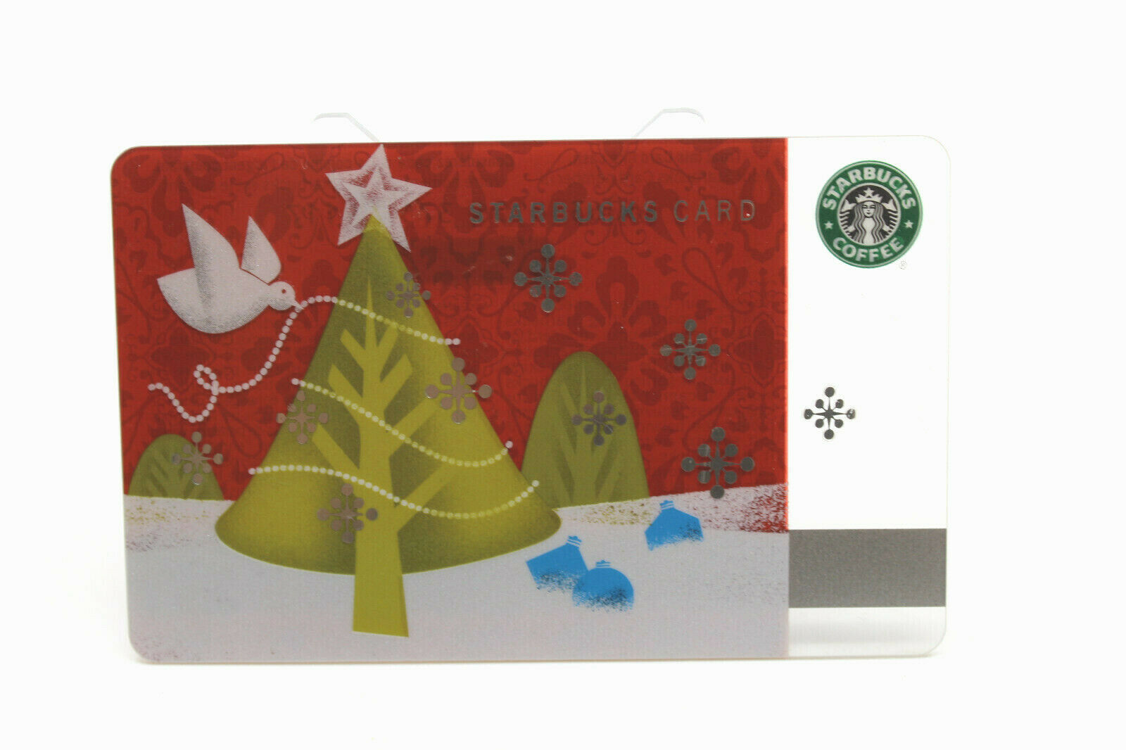 Primary image for Starbucks Coffee 2010 Gift Card Christmas Tree Dove Bird Zero Balance No Value
