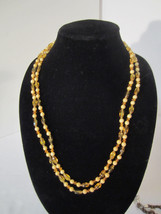 """52"""" Super Long Looped Yellow Beaded Glass Necklace - $8.00"""