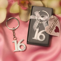 Sweet 16 Key Rings Keyring Girl Sixteen Keychain Birthday Party Favors S... - $23.76