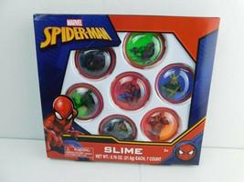 Marvel Spider man 7pc Slime Set New - $9.89