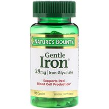 Nature's Bounty Gentle Iron 28 Mg 90 Capsules (4 pack x 90 Count) - $31.99