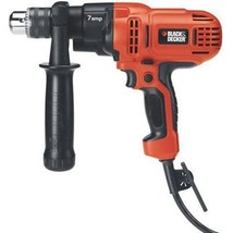 Powerful Corded Drill BLACK + DECKER 7 Amp 1/2In Driver Speed Compact Po... - $59.05