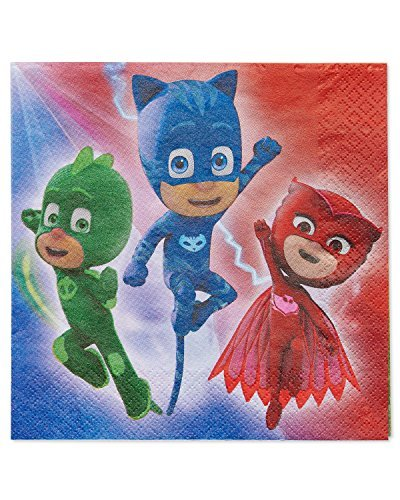 Primary image for American Greetings PJ Masks Paper Lunch Napkins for Kids (16-Count)