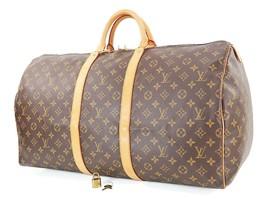Authentic LOUIS VUITTON Keepall 55 Monogram Canvas Duffel Bag #32710 - $695.00