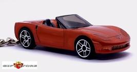 RARE KEY CHAIN ORANGE CHEVY CORVETTE C6 CONVERTIBLE CHEVROLET V8 LIMITED... - $38.98