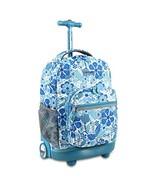 J World New York Girls' Sunrise Rolling Backpack Fashion, Blue (Blue Vine) - $59.15