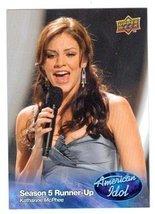 Katherine McPhee trading card (Singer) 2009 Upper Deck American Idol #012 - $4.00