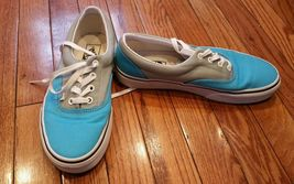 VANS OFF THE WALL CYAN BLUE GRAY TWO TONE TENNIS SHOES MEN 6 WOMENS 7.5 - $14.99