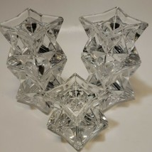 "Vintage AVON Stackable Lead Crystal Candle Holders (5) Fits .5"" Diameter... - $16.82"