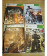 Lot of 4 Battlefield 3 4 Games For Xbox 360 Gears of War 2 3 in Sleeve - $22.43