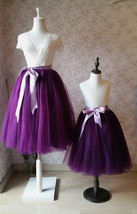 Plum Little Girl Tulle Skirt for Dress up and Fairy Costumes 1-16 image 3