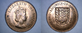 1960 Jersey 1/12 Shilling World Coin - 300th Anniversary Charles II - $9.99