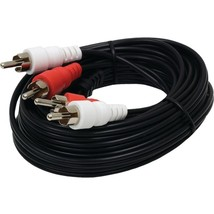 GE 34762 Dual RCA Composite Audio Cables, 15ft - $21.23