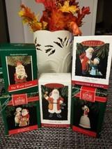 Vintage  Lot of 5  1989/1993 Hallmark ornaments.Santa Collection  - $18.80