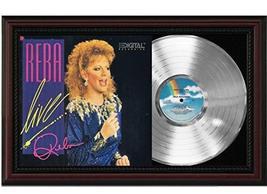 Reba Live Cherrywood Framed Platinum Reproduction Signature Display M4 - $151.95