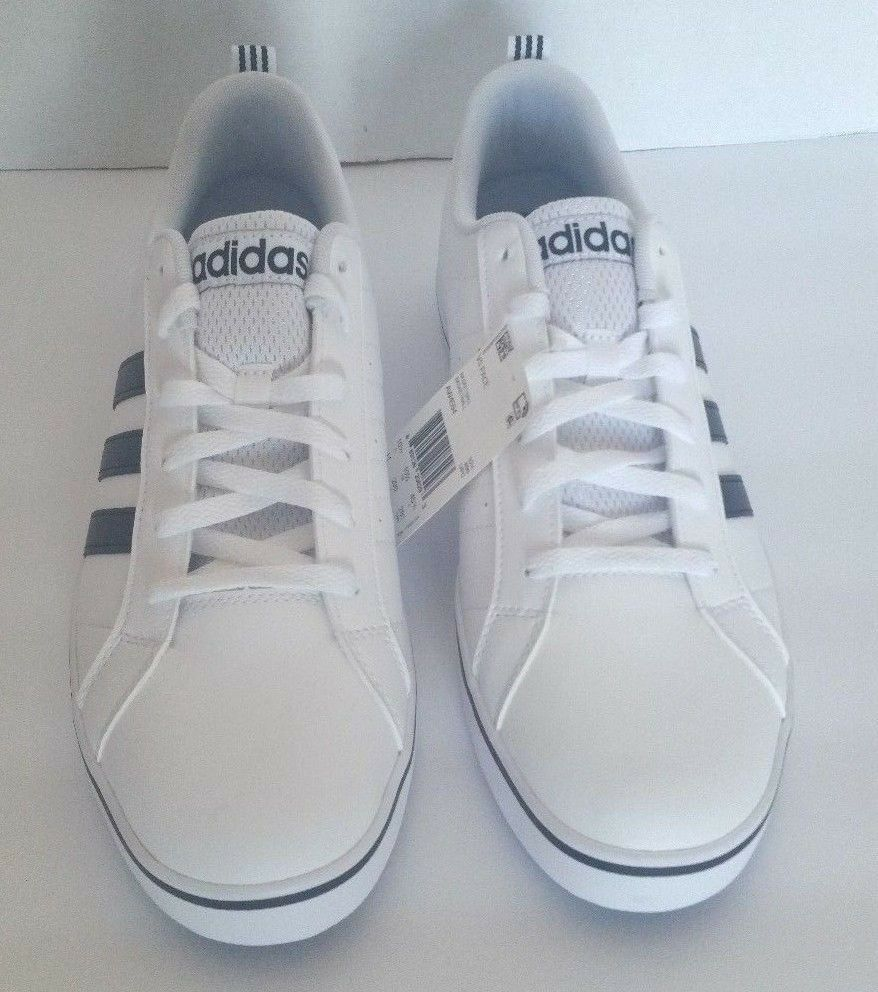 buy online 0d8ab 516f2 adidas Mens Neo Pace Vs Low Top Fashion Sneaker Shoes White Black AW4594