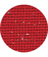 Christmas Red 10ct Heatherfield flecked 18x26 c... - $9.00