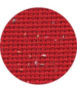 Christmas Red 10ct Heatherfield flecked 18x26 c... - $9.00