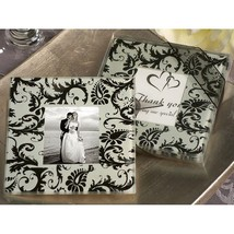 A Classic Damask Design Photo Coaster - 36 Sets - $55.95