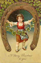 Christmas Good Luck To You Finkenrath of Berlin Post Card - $8.00