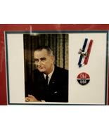 1964 LBJ Presidential Campaign Memorabilia Framed - $5.99