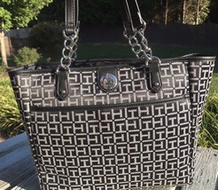Tommy Hilfiger Purse Handbag Tote BLACK TH Shoulder Bag Shopper NEW NWT $89 - $66.50