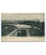 Locks on the Canal Devizes Wiltshire England UK 1911 postcard - $6.93