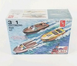 AMT 3 in 1 Customizing Boat Kit - Plastic Model Runabout or Dragster 1/2... - $19.24