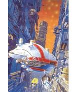 Isaac Asimov Foundation Set of 3x Space Sci Fi Promo Art Postcard by Manchu - $5.95