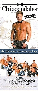 Chippendales Vegas Promo Card