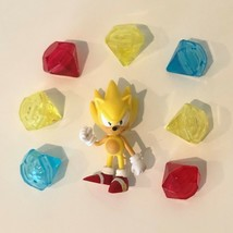 Jazwares Sonic The Hedgehog Sega Super Sonic Action Figure 7 Chaos Emeralds Gems - $69.99