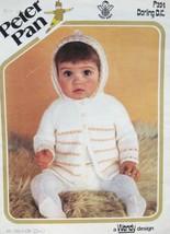 Vintage Peter Pan BABY Knitting Patterns Babies HOODED JACKET 18 - 22 In... - $4.95