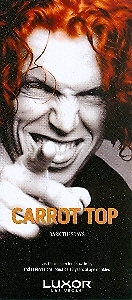 Carrot Top Vegas Promo Card