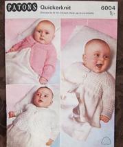 Vintage Patons Quickerknit BABY Knitting Patterns Babies COATS 18 - 19 I... - $4.95