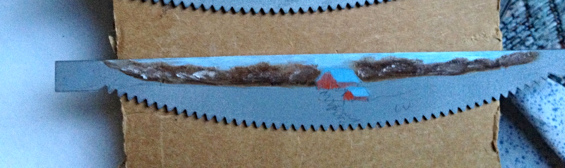 Order 4 Hand Painted Mini Crosscut Saw Winter Homestead Metal Art Home Decor