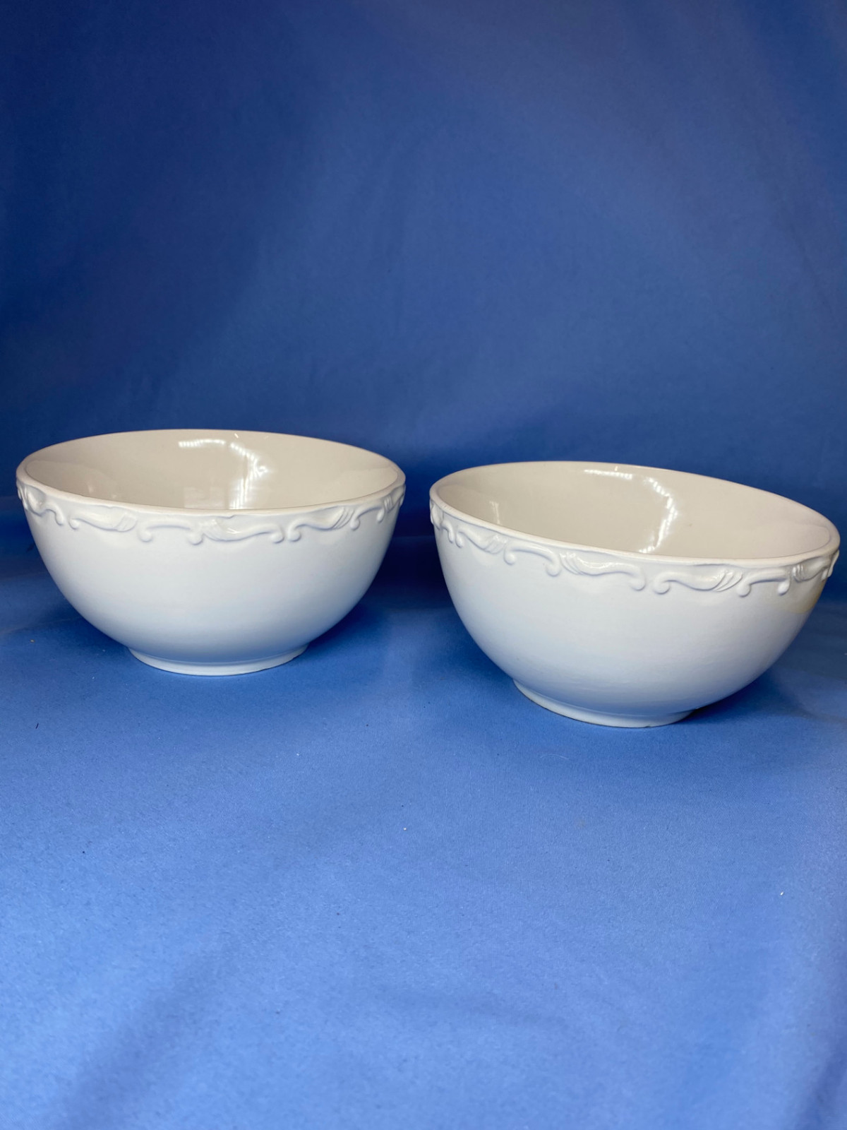 Primary image for Vintage Set Of 2 Gibson Everyday White All Purpose Soup Cereal Bowls 6 Inch