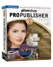 The Print Shop 21 Pro Pub Dlx By Broderbund - $19.95
