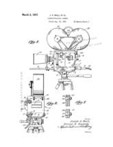 Cinematographic Camera Patent Print - White - $7.95+