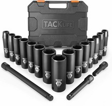 TACKLIFE 1/2-Inch Drive Master Deep Impact Socket Set, Metric, CR-V, 6 P... - $64.89 CAD
