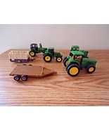"""Mixed Lot Of 4 John Deere Toy Tractors And 2 Trailers """" GREAT COLLECTIBL... - $28.04"""