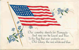 Loyalty and Truth and Old Glory Vintage Post Card   - $7.00