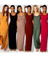 Fashion Women Sleeveless Casual Maxi Tank Dress Sexy Dresses 13 Colors - $8.75