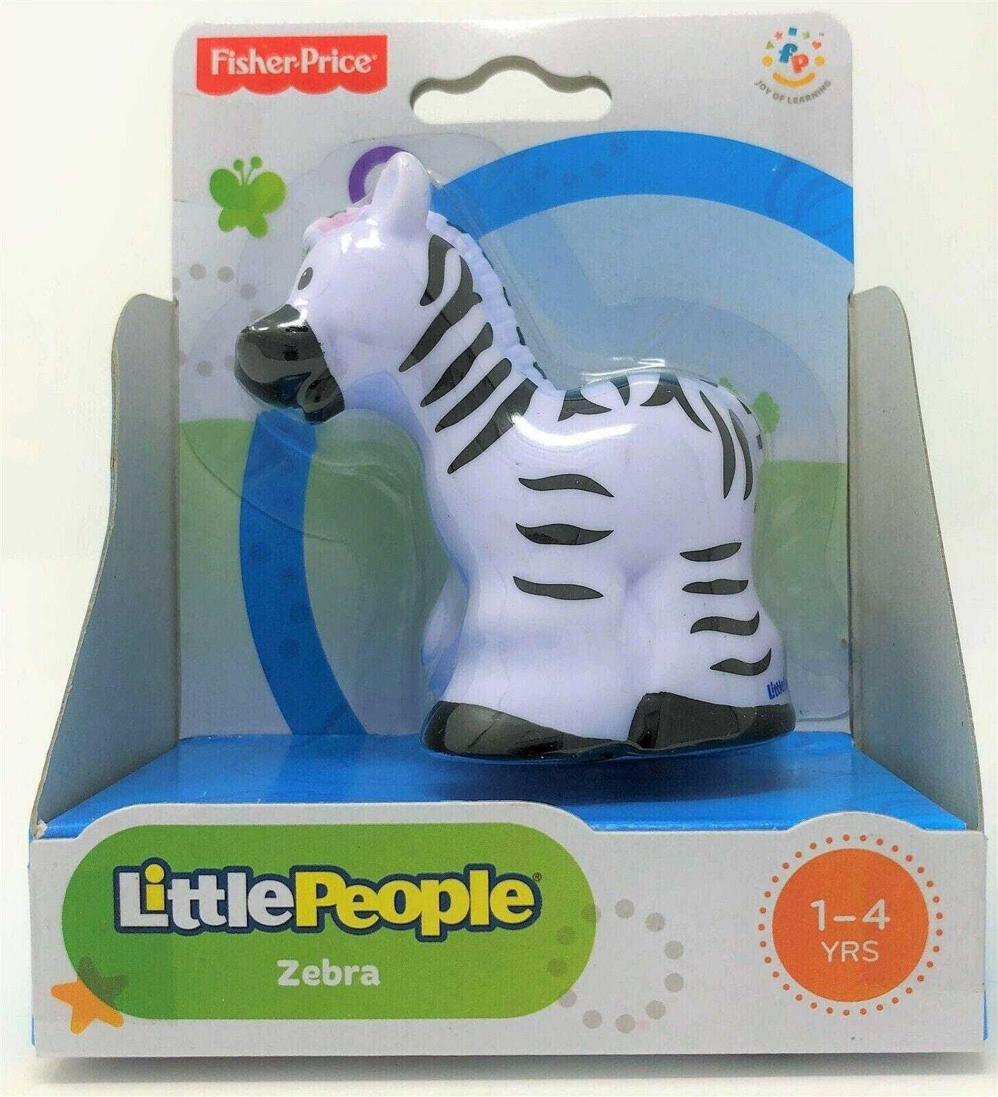 Fisher-Price Little People Zebra Tier Zoo Wildleben Safari Abbildung Spielzeug