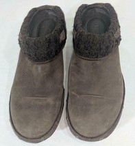 LM Women's 9 Merrell Luxe Knit Brown Studded Nubuck Slip-On Clog Mule Shoes EUC image 2