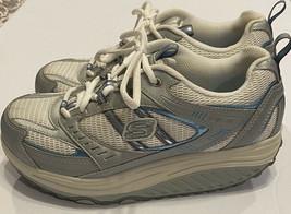 Skechers Shape Ups Toning Walking Tennis Shoes Womens Sz 8 Blue White Sn... - $32.71