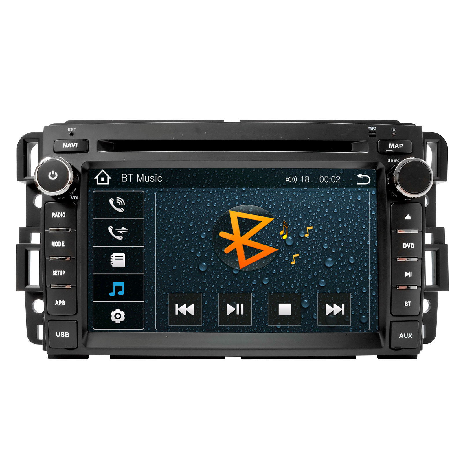 IN DASH DOUBLE DIN TOUCH SCREEN GPS NAVIGATION RADIO FOR 07-13 CHEVROLET TAHOE