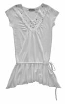 Girls Size 4 Off-White  Drop Waist Asymmetrical Hem Tunic Top - $3.99